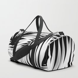 Palm Tree Fronds White on Black Hawaii Tropical Décor Duffle Bag