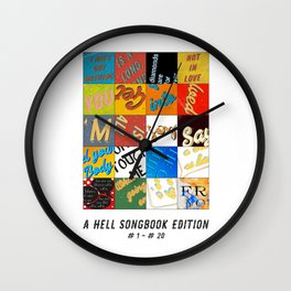 A Hell-Songbook-Edition Complete # 1 - 20 Wall Clock