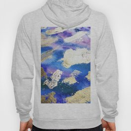 Gold Ocean Abstract Modern Design Hoody