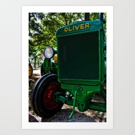 Oliver the Tractor Art Print