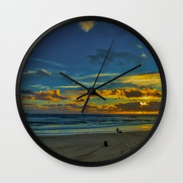 Northside Sunset Wall Clock