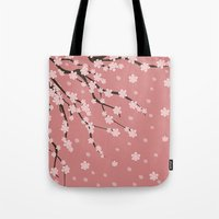 sakura Tote Bags featuring Sakura by Julia Badeeva