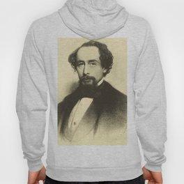 Vintage Charles Dickens Portrait Hoody