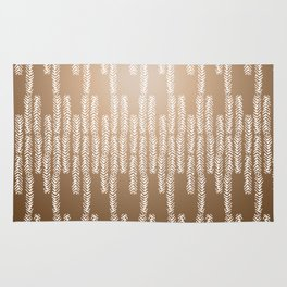 Eye of the Magpie tribal style pattern - gold Rug