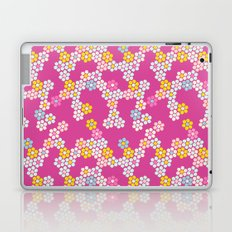 Flower tiles in hot pink Laptop & iPad Skin
