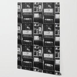 Retro Stand (Black and White) Wallpaper