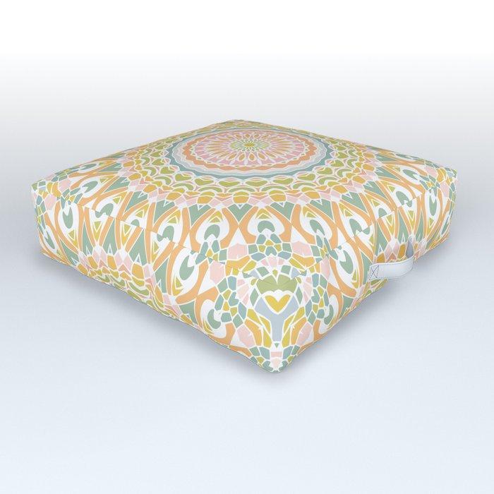 Meadow Mandala Outdoor Floor Cushion