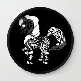 Black poni Wall Clock