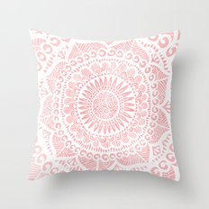 Blush Lace Throw Pillow