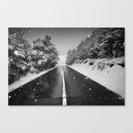 """The road"". Bw Canvas Print"