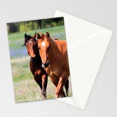 Horses & Bluebonnets II Stationery Cards
