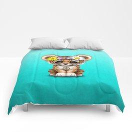 Cute Baby Tiger Cub Hippie Comforters