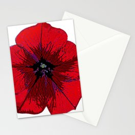 Red Petunia Stationery Cards