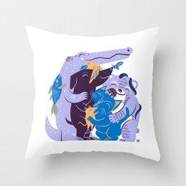 Cuddle (Berry Smoothie) Throw Pillow