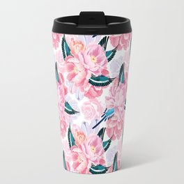 parrots and flowers Travel Mug