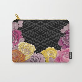 Pink & Yellow Roses Carry-All Pouch
