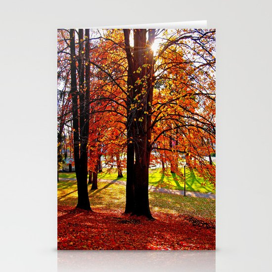 Autumn sunshine Stationery Cards