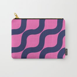 Pink and Navy Squiggles Carry-All Pouch