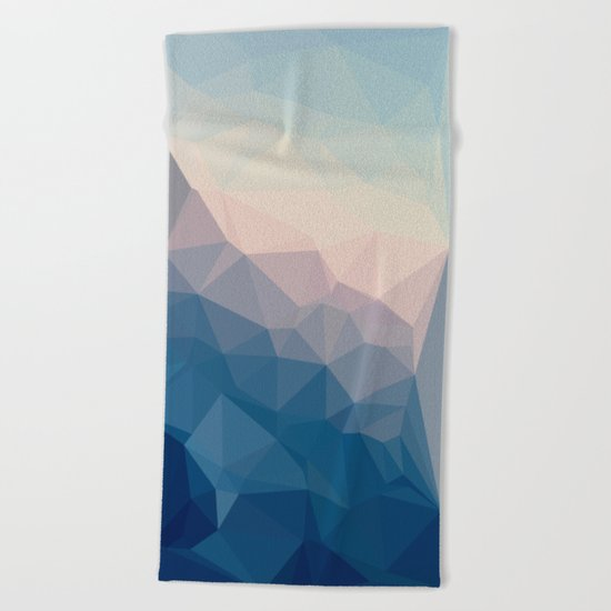BE WITH ME - TRIANGLES ABSTRACT #PINK #BLUE #1 Beach Towel