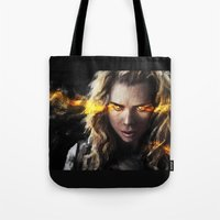bad wolf Tote Bags featuring Bad Wolf by Westling