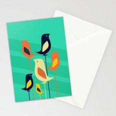 Mid Century Birds Stationery Cards