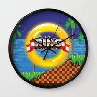 video game Wall Clocks featuring Retro Platform Video game poster  by Nick's Emporium Gallery
