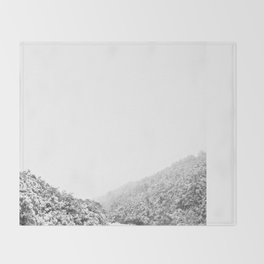 Snowy valley Throw Blanket