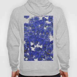 Little Blue Flowers on White Hoody