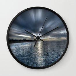 Morning Monotones Huntington Beach Wall Clock