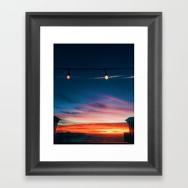 Sunset at Pismo Beach Framed Art Print
