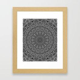 Zen Black and white Mandala Framed Art Print