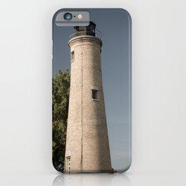 Kenosha Southport Light Station Light Tower Lighthouse Lake Michigan iPhone Case