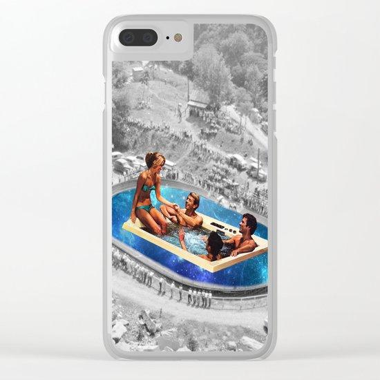 Vintage jacuzzi Clear iPhone Case
