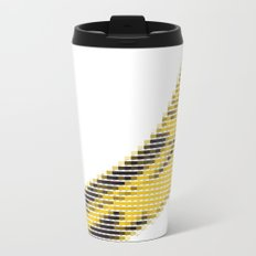 Pantone as pixel Banana Metal Travel Mug