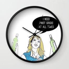 Pinot Grigio Wall Clock