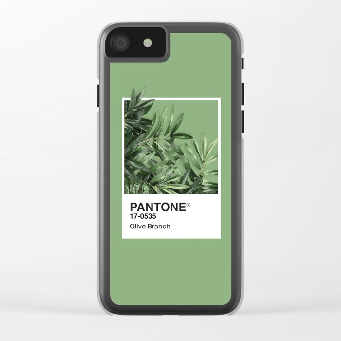 Pantone Series – Olive Branch Clear iPhone Case