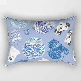 Chinoiserie Curiosity Cabinet Toss 7 Rectangular Pillow