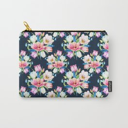 tulips on dark background Carry-All Pouch