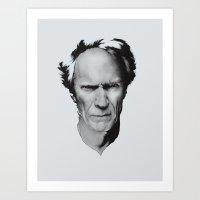 Clint Eastwood - No quote Art Print