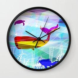 balena Roja Wall Clock
