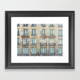 Paris Windows Framed Art Print