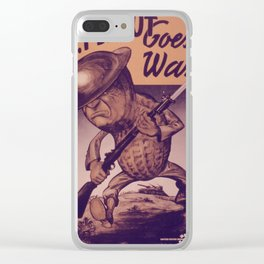 Vintage poster - Mr. Peanut Goes to War Clear iPhone Case