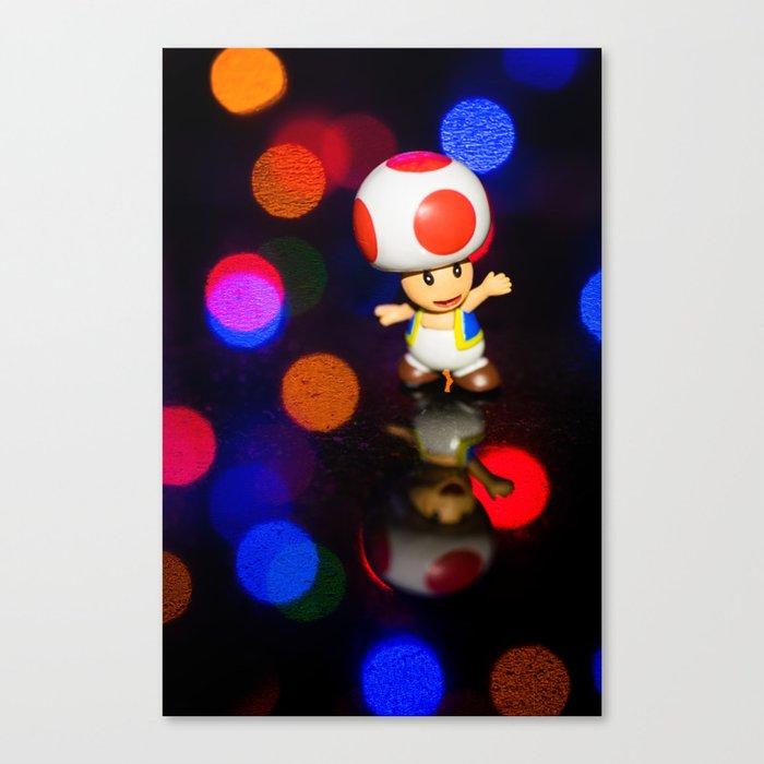Dancing toad Canvas Print