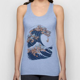 The Great Wave of Dachshunds Unisex Tank Top