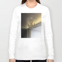 chandelier Long Sleeve T-shirts featuring Crystal chandelier by jazzmonkey