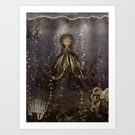 Octopus' lair - Old Photo Art Print
