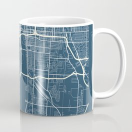 Columbus Blueprint Street Map, Columbus Colour Map Prints Coffee Mug