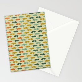 Vintage moustaches in different colors Vector Stationery Cards