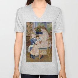 """Auguste Renoir """"L'après-midi des enfants à Wargemont (The childrens' afternoon at W.) Unisex V-Neck"""