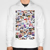 1d Hoodies featuring POLAROID ONE DIRECTION 1D by BESTIPHONE5CASESHOP